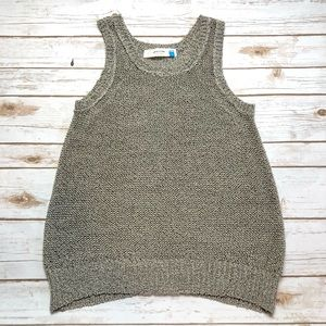 Anthropologie Sparrow Ribbon Loose Knit Top Small